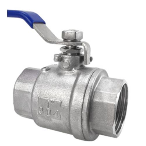 Two piece ball valve