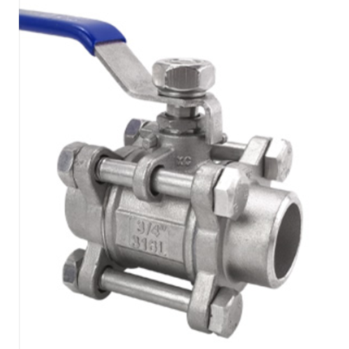 Stainless steel three-piece welded ball valve Three-piece ball valve inner wire ball valve