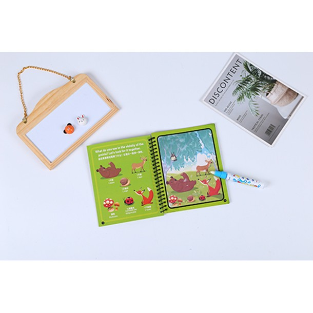 Children's educational creative reusable drawing book water painting doodle book