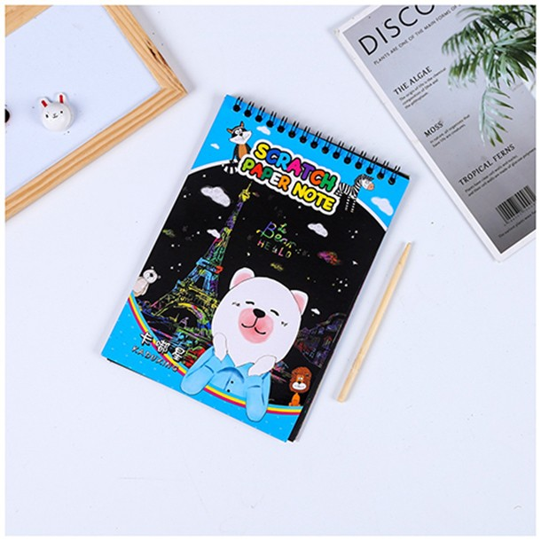 Children creative color painting Scratch painting doodle book Diy diy scratch paper puzzle toy magic