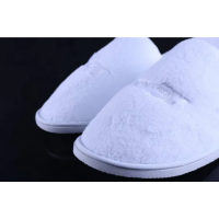 High Quality Customized Polyester Coral Fleece Disposable Hotel Slipper