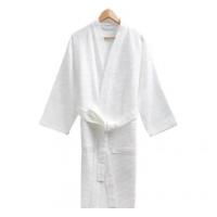 Hotel Cotton Kimono Collar Waffle Bathrobe