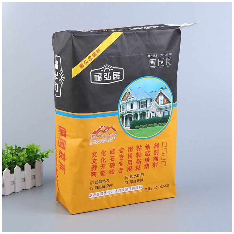 Adhesive paper plastic bag ceramic tile plastic paper plastic bag three paper one film chemical bag