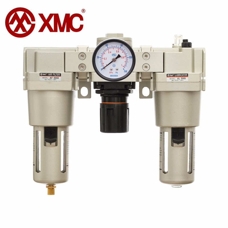XMC AC5000-10 Compressed air filter regulator pneumatic water and oil separator with pressure gauge