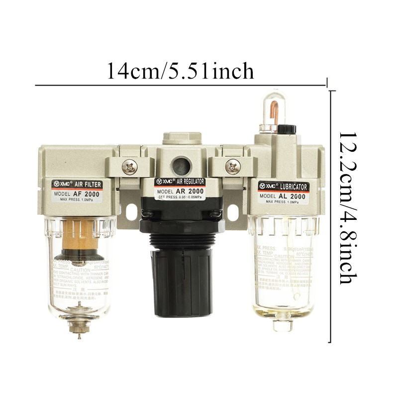 "XMC AC2000-02 G1/4 ""Air pressure regulator trap valve filter compressor air source treatment un"