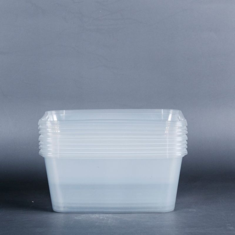 Ningbo xiaoxiang tableware transparent disposable square fast-food box