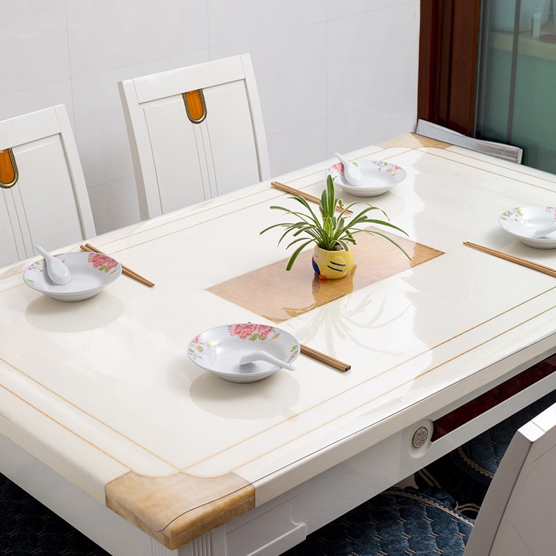 Guanglai Xingyou GLXY frosted soft glass tablecloth simple modern wind tea table. TV cabinet PVC mat
