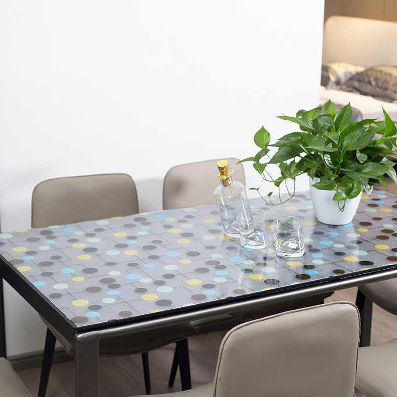 GLXY water drop grain simple and fresh tasteless and washing free table cloth table mat tea table ma