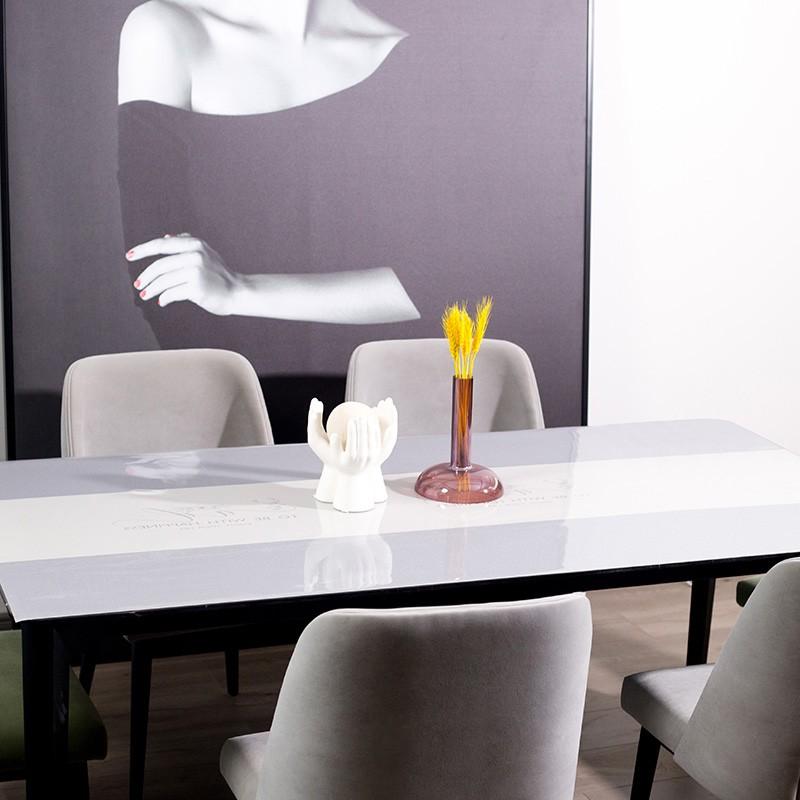 广莱星友GLXY无味防水防铁免洗北欧风格软玻璃桌