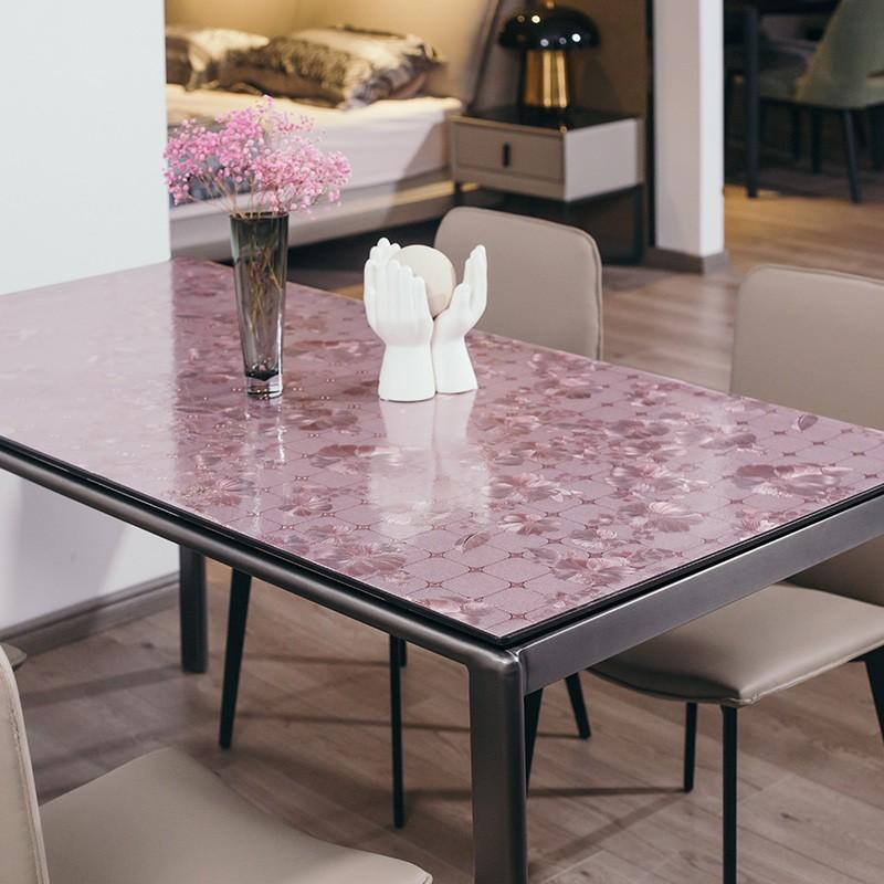 广莱星友GLXY图案精致无味软玻璃台布PVC材质台垫w