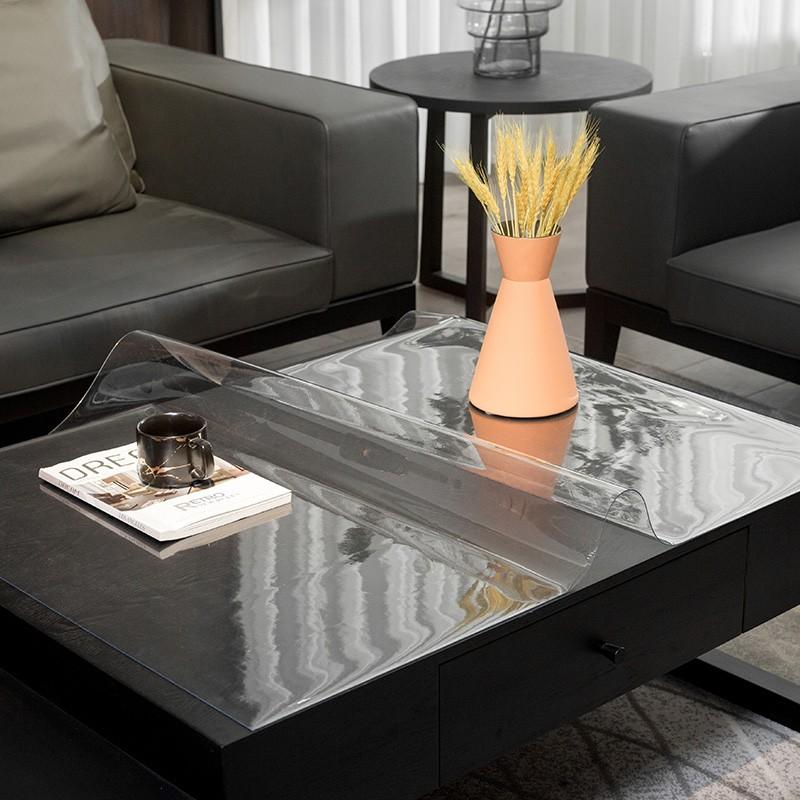 广莱星你无味透明水晶板软玻璃台布防水防油