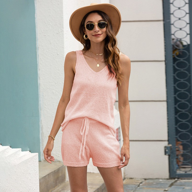 marvilis جديد ربيع الصيف شاطئ بيكيني الأعلى ، محبوك سترة ، والسراويل ، لون الصلبة جوفاء ملابس السباح